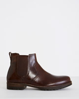 brown Paul Costelloe Living Leather Boot