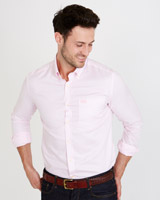 pink Paul Costelloe Living Slim Fit Oxford Shirt