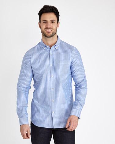 Paul Costelloe Living Slim Fit Stripe Oxford Shirt