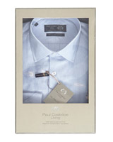 blue Paul Costelloe Living Boxed Sea Island Cotton Shirt