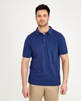 denim Paul Costelloe Living Garment Dyed Polo Shirt