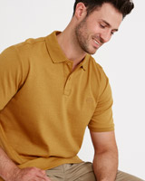 mustard Paul Costelloe Living Regular Fit Mercerised Pima Cotton Polo
