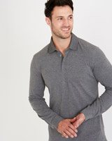 grey-marl Paul Costelloe Living Slim Fit Pique Polo Shirt