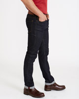 dark-denim Paul Costelloe Living Men Slim-Fit Stretch Denim