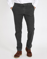 grey Paul Costelloe Living Straight Fit Stretch Textured Trouser