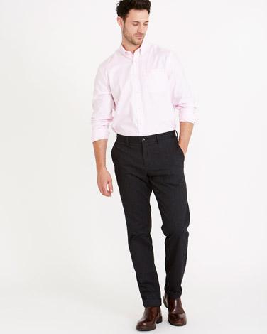 Paul Costelloe Living Herringbone Straight Fit Trousers