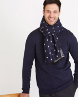 navy-grey Paul Costelloe Living Spot Scarf