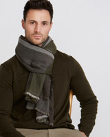 green Paul Costelloe Living Block Scarf