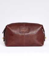 brown Paul Costelloe Living Leather Wash Bag