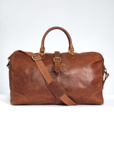 tan Paul Costelloe Living Tan Leather Holdall