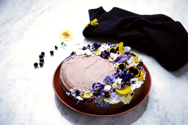 Decadent Chocolate Cake With Edible Flowers Dunnes Stores