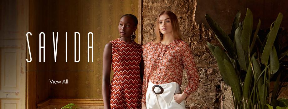 Shop stylish Savida dresses, pinafores, tops, skirts, bags, shoes and more