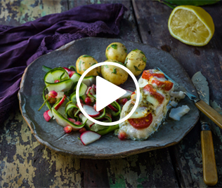 Roasted Cod with Tomatoes & Mozarella