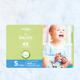 DUNNES STORES Baby Dry Nappies Size 5