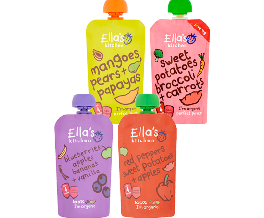 Dunnes Stores Grocery Baby Offers Ella's Kitchen Selected Stage 1 Pouch 120g