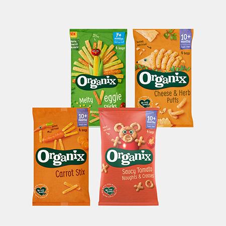 Selected Organix Multipack Snacks