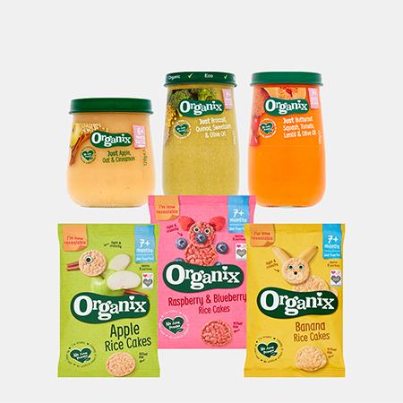 Organix Rice Cakes Multipack Range / Jars