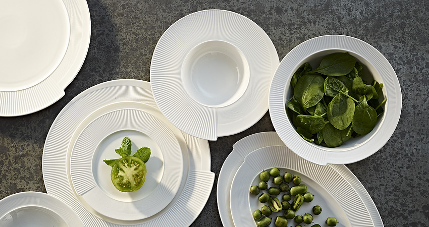 Cook with Neven Maguire plates and serving