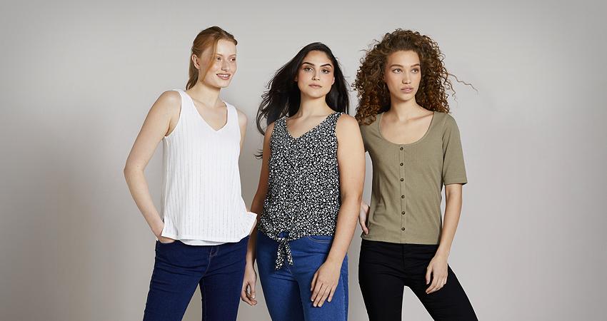 Main Range Tops T-Shirts Blouses
