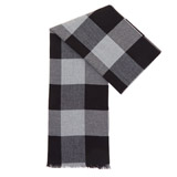 black Block Check Scarf