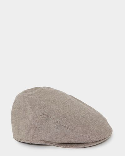 Linen Blend Flat Cap