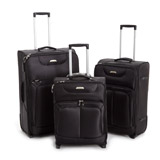 black Max Lightweight Two Wheel Luggage