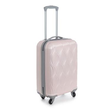 pinkDesign Four Spinner Wheel Hard Shell Cabin Bag