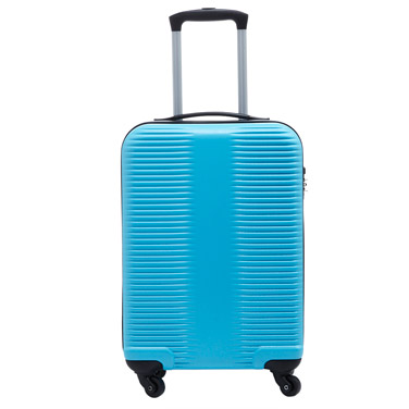 turquoise Brushed Four Spinner Wheel Cabin Case