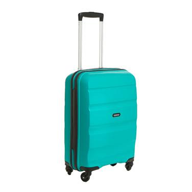 greenAmerican Tourister Bon Air Four Spinner Wheel Hard Shell Cabin Case