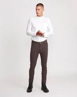 brownPaul Galvin Four Pocket Pinstripe Trousers