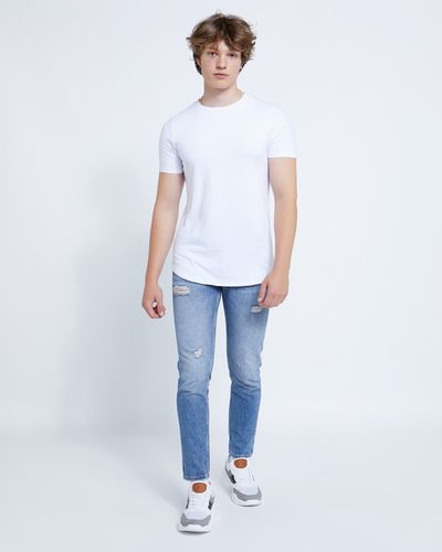Paul Galvin Tapered Rip And Repair Denim