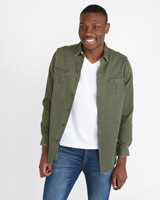 khaki Paul Galvin Overshirt