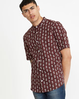 wine Paul Galvin Banjo Print Shirt