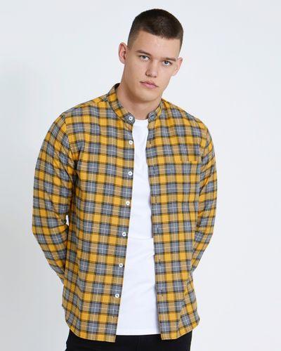 Paul Galvin Mustard Check Yarn-Dye Shirt