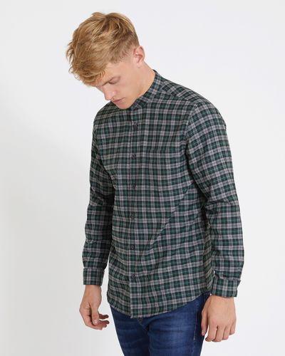 Paul Galvin Slim Fit Green Check Yarn Dye Shirt