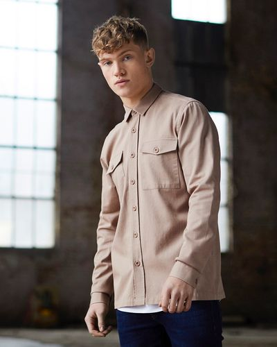 Paul Galvin Long-Sleeved Double Pocket Shirt