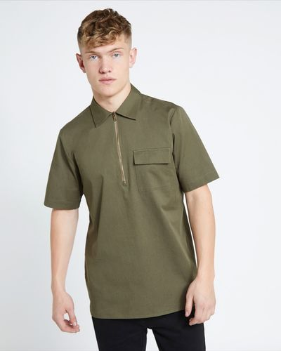 Paul Galvin Short-Sleeved Zip Pocket Shirt