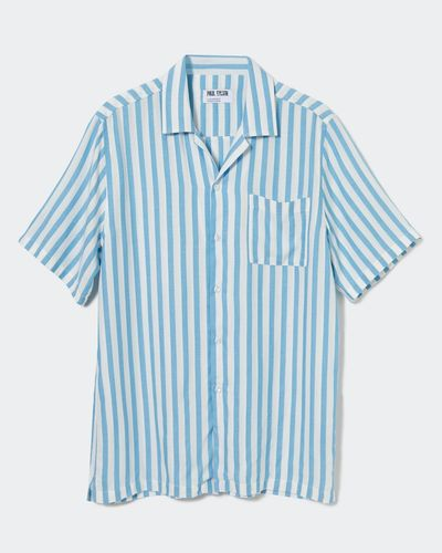 Paul Galvin Blue Stripe Revere Shirt
