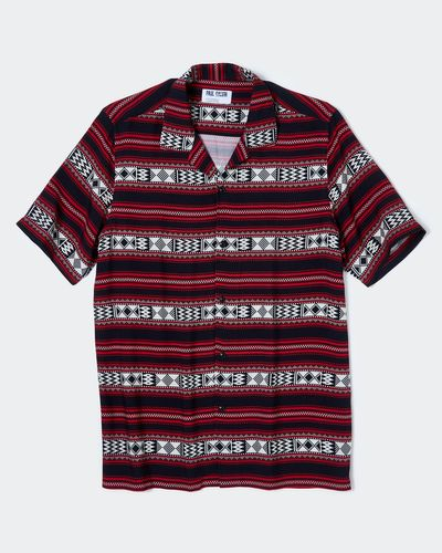 Paul Galvin Tribal Print Shirt