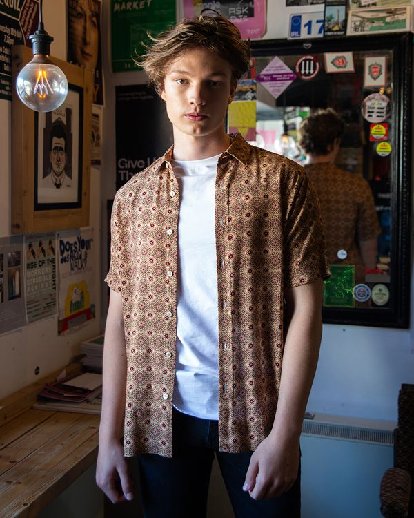 Paul Galvin Tile Print Shirt
