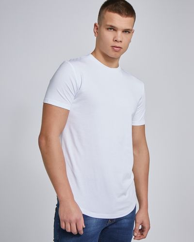 Paul Galvin Short Sleeve Dipped Hem Stretch Tee Shirt