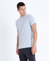grey Paul Galvin Short-Sleeved Grey Stretch T-Shirt