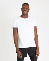 white Paul Galvin White Contrast T-Shirt