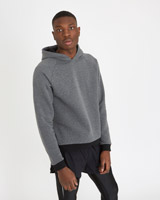 charcoal Paul Galvin Long Sleeve Hoodie