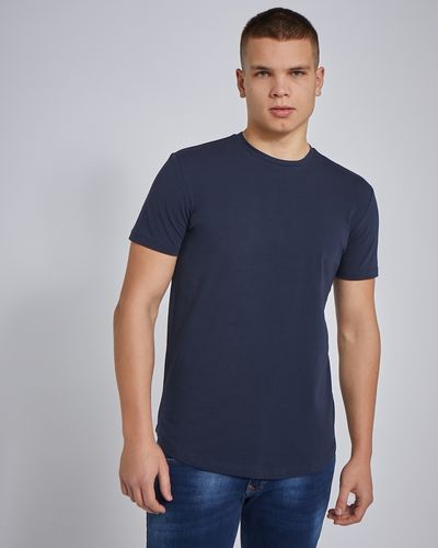 Paul Galvin Short Sleeve Dipped Hem Stretch Tee Shirt thumbnail