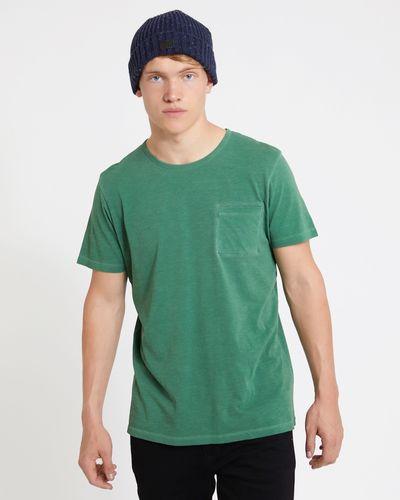 Paul Galvin Green Garment Dyed Slub Tee