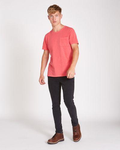 Paul Galvin Red Garment Dyed Slub Tee