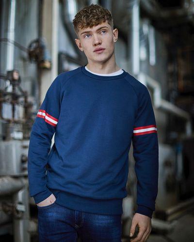 Paul Galvin Navy Crew Neck Sweatshirt