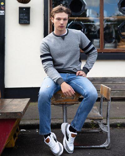 Paul Galvin Stripe Sleeve Sweater thumbnail