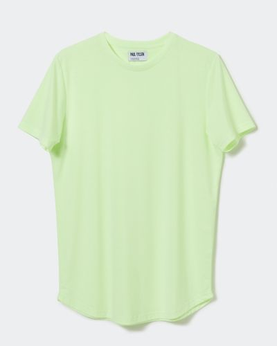 Paul Galvin Green Dipped Hem Tee Shirt